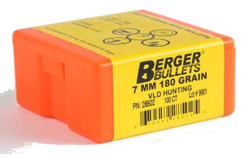Berger VLD Hunting Bullets 7mm Caliber .284 Diameter 180 Grain