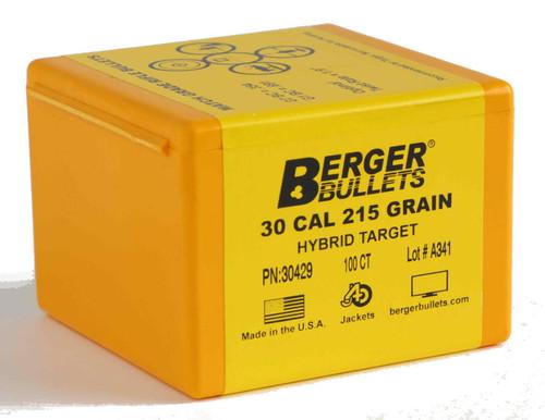 Berger Hybrid Target Bullets 30 Caliber .308 Diameter 215 Grain
