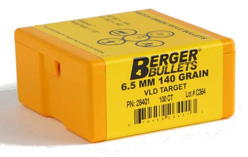 Berger VLD Target Bullets 6.5mm Caliber .264 Diameter 140 Grain