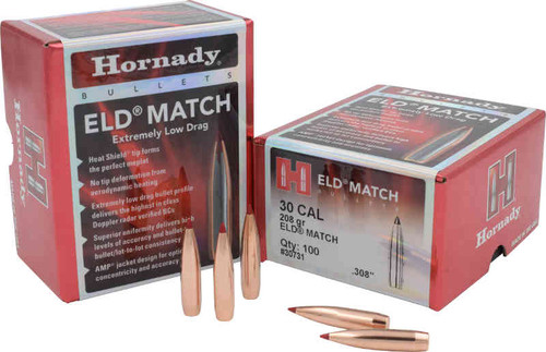 Hornady ELD-Match Bullets 30 Caliber 168 Grain sample pack