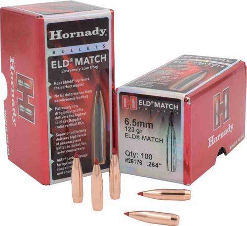 Hornady ELD-Match Bullets 6.5mm Caliber .264 Diameter 123 Grain