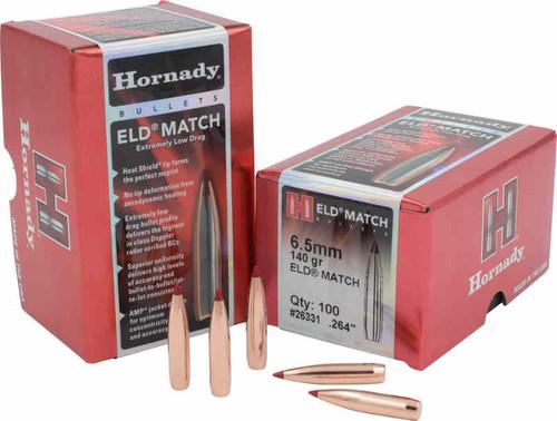 Hornady ELD-Match Bullets 6.5mm Caliber .264 Diameter 140 Grain