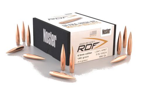 Nosler RDF Bullets 6.5mm Caliber .264 Diameter 130 Grain