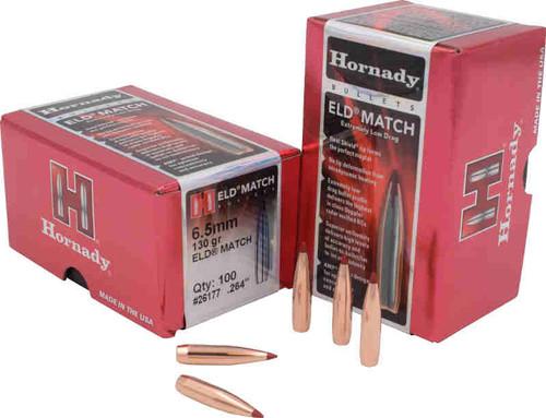 Hornady ELD-Match Bullets 6.5mm Caliber .264 Diameter 130 Grain