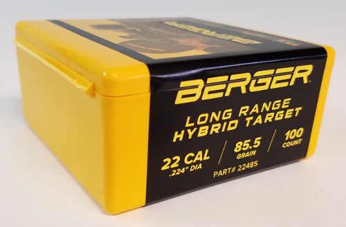 Berger Hybrid Target Bullets 22 Caliber .224 Diameter 85.5 Grain