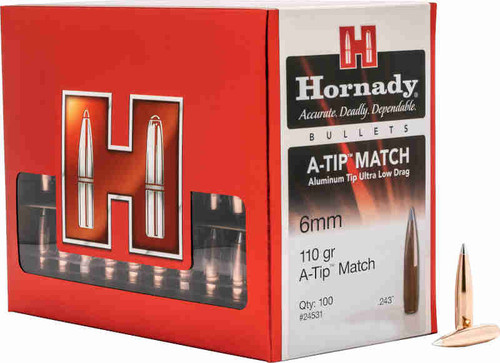 Hornady A-TIP Match Bullets 6mm Caliber .243 Diameter 110 Grain