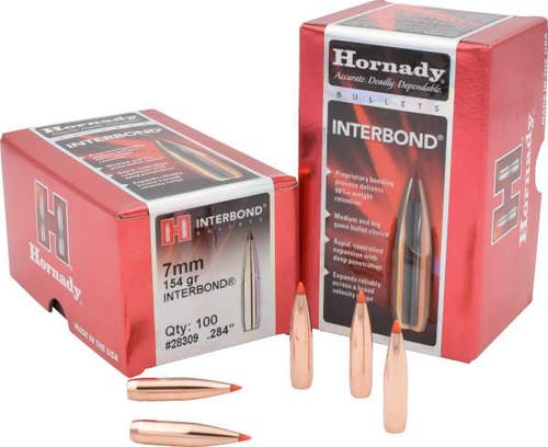 Hornady InterBond Bullets 7mm Caliber .284 Diameter 154 Grain
