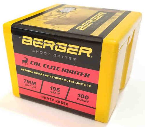Berger EOL Elite Hunting Bullets 7mm Caliber .284 Diameter 195 Grain
