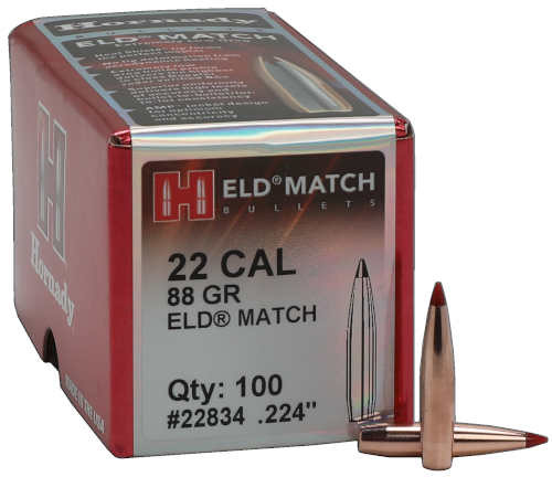 Hornady ELD-Match Bullets 22 Caliber .224 Diameter 88 Grain