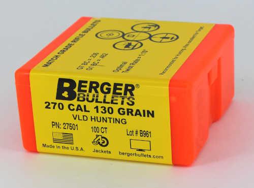 Berger VLD Hunting Bullets 270 Caliber .277 Diameter 130 Grain