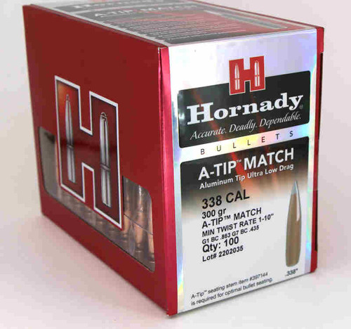Hornady A-TIP Match Bullets 338 Caliber .338 Diameter 300 Grain
