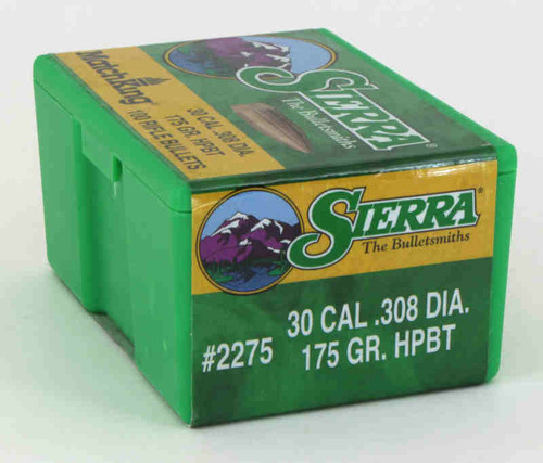Sierra MatchKing Bullets 30 Caliber .308 Diameter 175 Grain