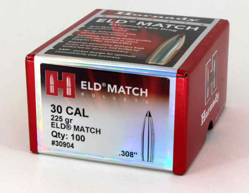 Hornady ELD-Match Bullets 30 Caliber .308 Diameter 225 Grain