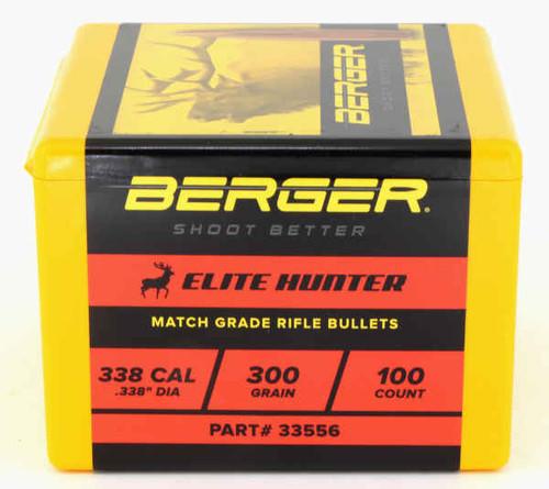 Berger Elite Hunting Bullets 338 Caliber .338 Diameter 300 Grain