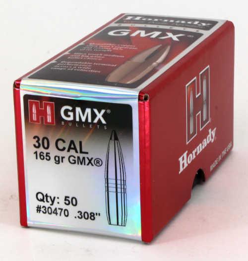 Hornady GMX Bullets 30 Caliber .308 Diameter 165 Grain