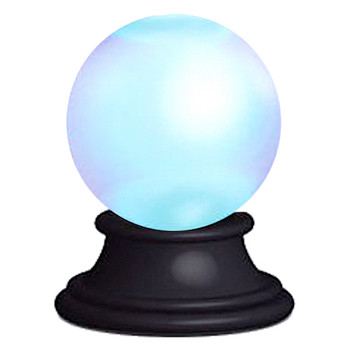 """Magic Crystal Ball with Lights and Sounds Running Press Miniature Editions 3"""""""