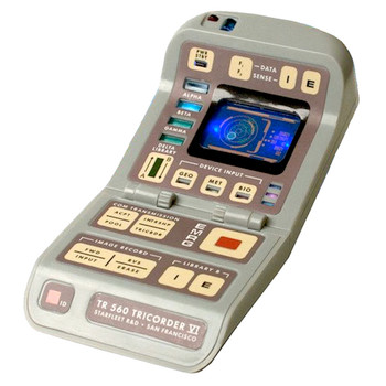 """Tricorder Star Trek with Lights and Sounds Running Press Miniature Editions 3"""""""