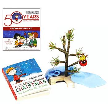 "Charlie Brown Christmas Tree Kit Peanuts 50th Anniversary Running Press Miniature Editions 3"""