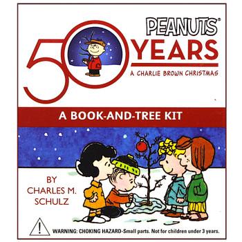 "Charlie Brown Christmas Tree Kit Peanuts 50th Anniversary Miniature Editions 3"""