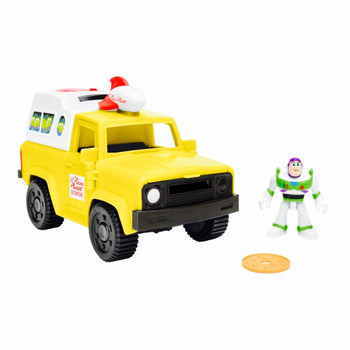 Pizza Planet Truck with Buzz Lightyear Toy Story Imaginext Figures 2.5""
