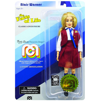 """Blair Warner Facts of Life 8"""" MEGO Classic Action Figure Re-Issue"""