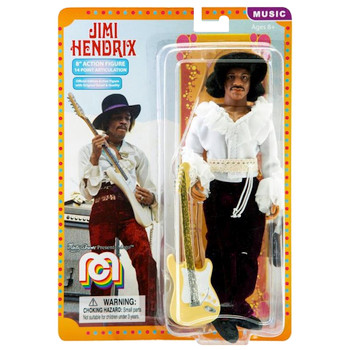 """Jimi Hendrix 8"""" Mego Action Figure Re-Issue"""