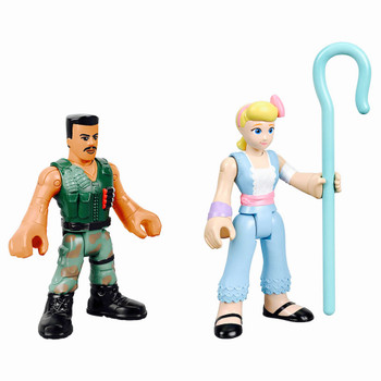 Combat Carl & Bo Peep Toy Story 4 Imaginext Figures 2.5""
