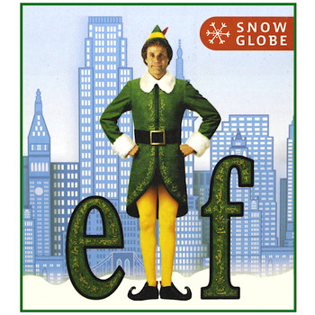 "Buddy the Elf Christmas Snowglobe Miniature Editons 3"""
