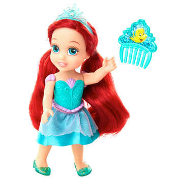 "Ariel Petite Princess Doll with Comb 6"" The Little Mermaid"