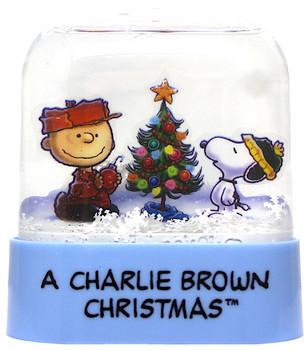 "Peanuts Snow Globe A Charlie Brown Christmas Running Press Miniature Editons 3"""