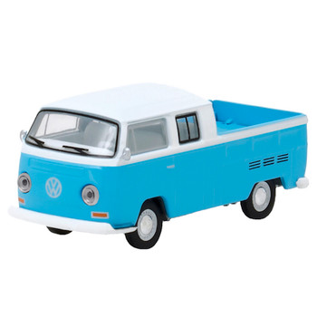 Club V-Dub 1968 Volkswagen Type 2 T2 Double Cab Pick-UP Greenlight Vehicle 1:64 Scale