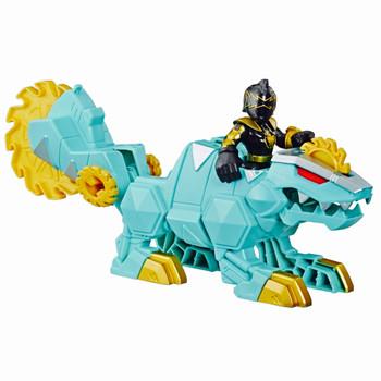 """Dimetrozord & Black Ranger 3"""" Power Rangers Figure Playskool Heroes"""