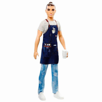 Barista with Man-Bun Ken 60th Anniversary Barbie You Can Be Anything Doll 10.5""
