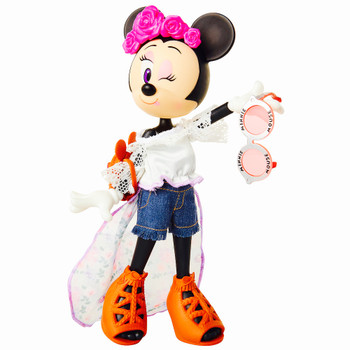 Minnie Mouse Floral Festival Poseable Doll 9""