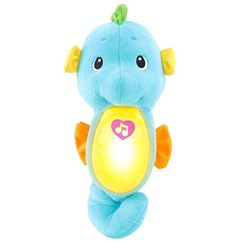 "Seahorse Soothe & Glow 9"" Plush Figure Blue"