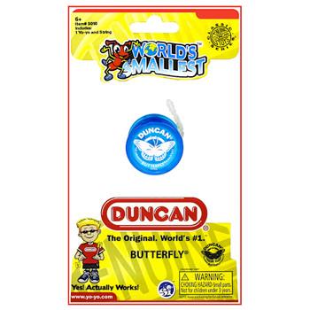 """Worlds Smallest Duncan Blue Butterfly Yo Yo 1.5"""""""