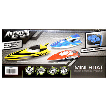 """Adventure Force Remote Controlled Yellow Mini Boat 5"""""""