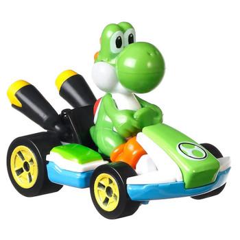 Yoshi Standard Kart Super Mario Kart Character Car Diecast 1/64 Scale