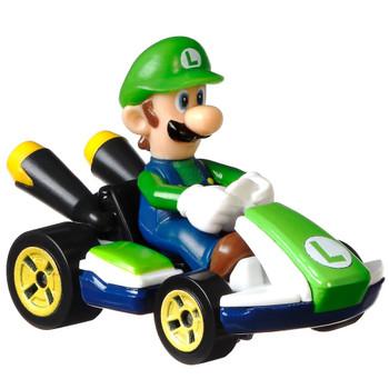 Luigi Standard Kart Super Mario Kart Character Car Diecast 1/64 Scale