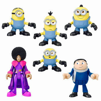 "Minions the Rise of Gru Imaginext 6 Pack Figures 2.5"" with Belle Bottom"