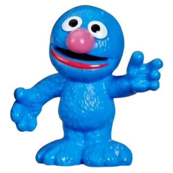 "Grover Sesame Street Figure 3"" (New Loose)"