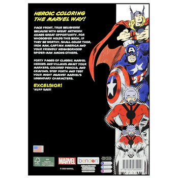 Marvel Comics Heroic Coloring Book with Full Size Poster