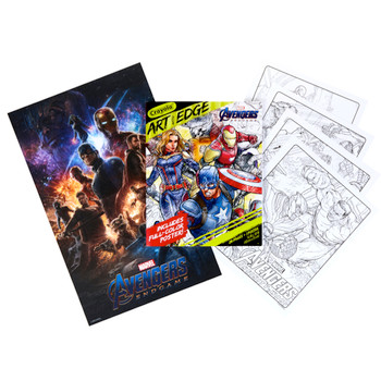 Marvel Avengers Endgame Art with Edge Coloring Book with Full Size Poster
