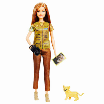 """Photojournalist National Geographic Barbie You Can Be Anything Doll 10.5"""""""