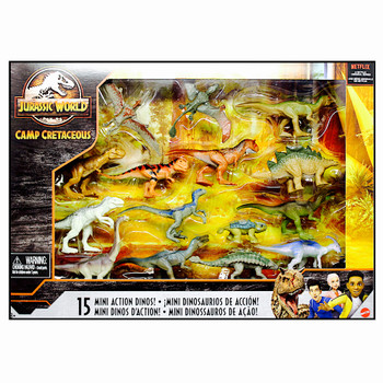 Jurassic World Camp Cretaceous 15 Pack Mini Action Dinos