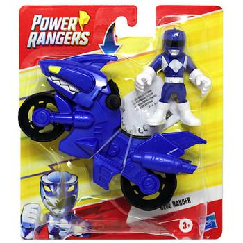 """Blue Ranger Dino Cycle Power Rangers Playskool Heroes Figures 3"""""""