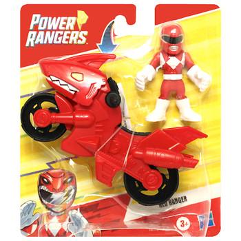 """Red Ranger Dino Cycle Power Rangers Playskool Heroes Figures 3"""""""