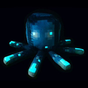 Glow Squid Glow in the Dark Minecraft Pillow Buddy