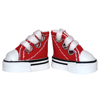 Red Canvas High Top Tennis Shoes for 10.5 Inch Dolls