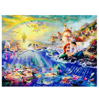 Ariel the Little Mermaid Wish Upon a Dream Disney Collection Thomas Kinkade Puzzle 750 Pieces